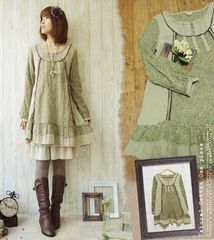 casual antique flare one piece ~ $49.58 ~ ラブリー <3