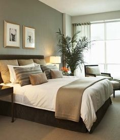 Yorkville Condo contemporary bedroom... very inviting, serene, and comfortable looking room.  I like the color scheme as well.
