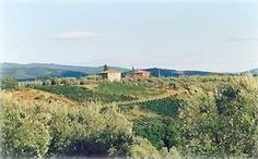 White house on left is Tuscany villa, gorgeous views of Chianti's rolling hills