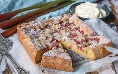 Baking Recipes, Cake Recipes, Dessert Recipes, Best Rhubarb Recipes, Rhubarb Cake, Norwegian Food, Scandinavian Food, Swedish Recipes, English Food