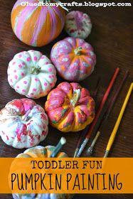 Toddler Fun - Pumpkin Painting {Craft}