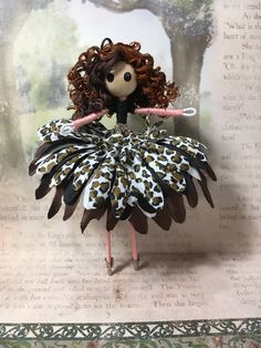 Doll Crafts, Diy Doll, Cute Crafts, Chibi, Fairy Gifts, Mermaid Fairy, Fairy Clothes, Vintage Fairies, Clothespin Dolls