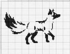 "ru / – Album ""my diagrams are monochrome (free … - embroidery Beaded Cross Stitch, Cross Stitch Charts, Cross Stitch Designs, Cross Stitch Embroidery, Cross Stitch Patterns, Filet Crochet, Crochet Fox, Crochet Animals, Fuchs Silhouette"