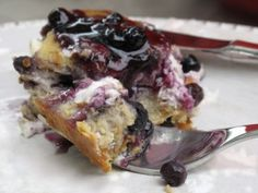Magical Overnight Breakfast Bake 12 slices bread  16 oz. cream cheese  1 cup fresh or thawed frozen fruit  12 eggs  2 cups milk  1/2 cup maple syrup