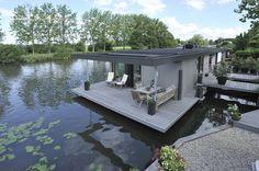 the Netherlands - Woonboot, Loenen aan de Vecht. Living in a boat in Loenen.