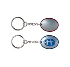 The Soft Touch #Flashlight #Keychain features a strong bright coloured light that is activated when squeezed, button cell batteries, durable link keychain with split ring and ample space for your #promotional message.
