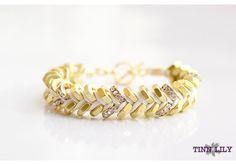 Silk Sparkling Hex Bracelet with Swarovski Crystals