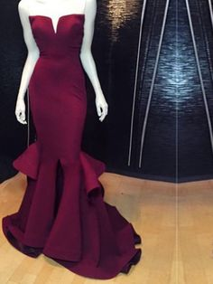 Marsala Burgundy Mermaid Prom Dresses Ruffles Notched Front Slit Formal Evening Gowns_Prom Dresses Dresses_Special Occasion Dresses_Buy High Quality Dresses from Dress Factory Mermaid Gown Prom, Sweetheart Prom Dress, Mermaid Evening Dresses, Mermaid Sweetheart, Pretty Dresses, Beautiful Dresses, Prom Dresses 2017, Dress Prom, Dress Long