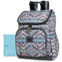 4340e5e288b9 Kelty Wide Opening Backpack Diaper Bag - Pink Grey Aztec