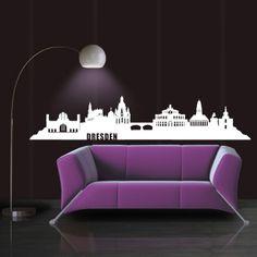 Dresden ist die Hauptstadt von Sachsen und mit seinen vielen Sehenswürdigkeiten, wie das Residenzschloss und der Kreuzkirche immer eine Reise wert. Also wenn dir diese Stadt gefällt, bestelle noch heute das Skyline Dresden Wandtattoo in unserem Shop. #Dresden #Skyline #Wadeco // http://www.wadeco.de/skyline-dresden-wandtattoo.html