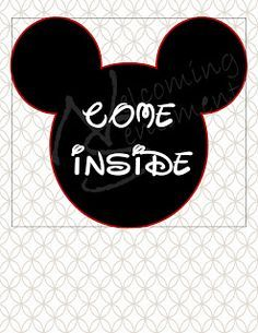picture regarding Come Inside It's Fun Inside Free Printable known as 21 Simplest Mickey mouse shots inside 2016 Mickey mouse events