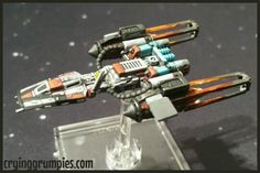 Black Sun Y-wing repainted for X-wing miniature game by Darth Grumpy