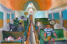 la rubia, pinturas sobre trenes. Paintings of trains for sale. venda de pinturas de trens.