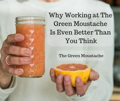 Why Working at the Green Moustache is Even Better than You Think Good Job, Moustache, Thinking Of You, Fruit, Green, Food, Thinking About You, Mustache, Essen