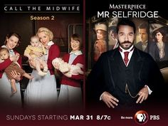 """Travel to London on Sundays with CALL THE MIDWIFE and """"Mr. Selfridge"""" on MASTERPIECE CLASSIC to get your fill of life, death, drama and some serious shopping!"""