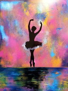 Photochrome Dancer Spray Paint Art original by by BeardArtStudios, $15.00