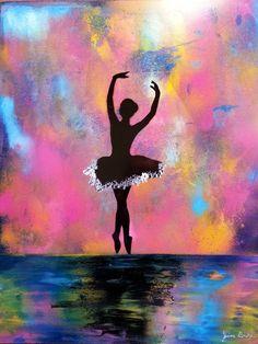 "Photochrome Dancer"" Spray Paint Art original by Jim Beard no paint brushes are used! by BeardArtStudios on Etsy Ballerina Kunst, Ballerina Painting, Spray Paint Art, Spray Painting, Painting Art, Paintings, Silhouette Painting, Ballet Art, Art Original"