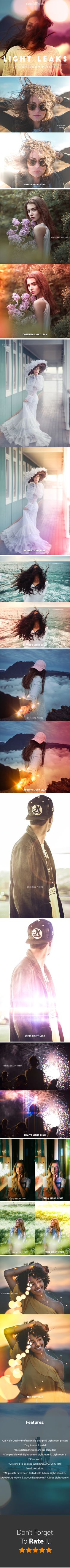 25 Light Leaks Lightroom Presets For #Lightroom 4,5,6,CC - Lightroom #Presets Add-ons