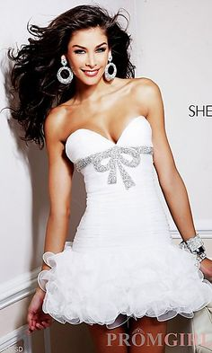 Sherri Hill Short Strapless Dress 1473  at PromGirl.com...looks like a present