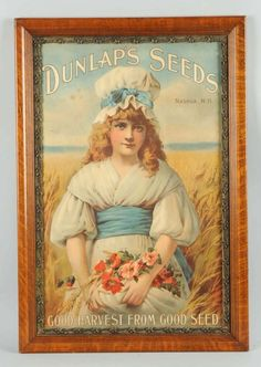 Framed Advertising of Dunlap's Seeds. : Lot 1429