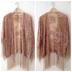 30% OFF  Silk Burnout Kimono Women Boho Kimono par HippieMassa