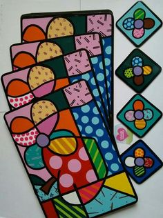 Britto Graffiti Painting, Dot Painting, Painting On Wood, Drawing For Kids, Art For Kids, Butterfly Outline, Painted Rocks, Hand Painted, Coaster Art