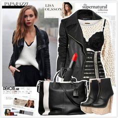 96053db832167 Blogger N 1  Lisa Olsson. Supernatural OutfitsLeather Jacket ...
