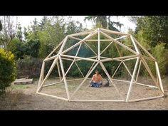 Construcción de un domo geodésico en un fin de semana - YouTube