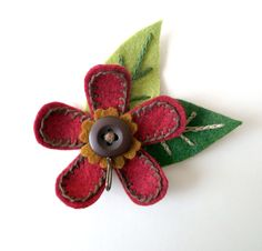 Magnetic Portuguese Knitting Pin - Deep Dark Red.