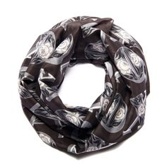 With hugs and kisses - a winter scarf printed on a fine cotton-silk blend. #MomPreneursAdventsbasar