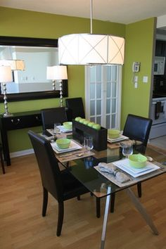 Dining Photos Lime Green Accent Wall Design, Pictures, Remodel, Decor and Ideas