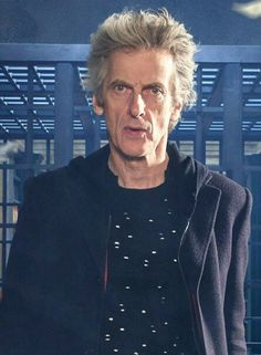 The Doctor's favorite outfit:  The holey jumper. Genuflect!