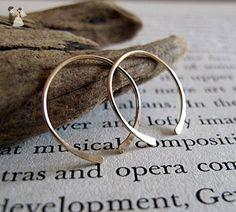 Open Gold Filled Hoop Earrings - Small Handmade Hoops - Minimalist Gold Jewelry - Fine Gold Hoop Earrings - Wedding earings (*Amazon Partner-Link)