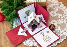 Wie versprochen heute die süße Geschenkschachtel mit dem noch süßeren Knusperhaus... Der Effekt, wenn man die Schachtel zum explodieren bringt und das kleine Häuschen zum Vorschein kommt, entlockt ...