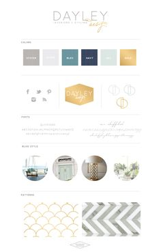 DayleyDesign-BrandBoard-SaffronAvenue - love the navy, gold