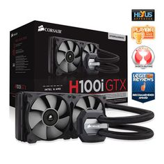 Corsair Hydro Series H100i GTX 240mm High Performance Multi CPU Liquid Cooler, with Corsair Link, for Intel/AMD CPU's : image 1