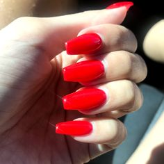 Ferrari Red coffin nails ❤️❤️