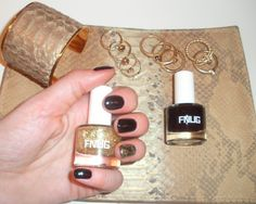 #FNUG col Catwalk, ring finger/col Catwalk+Gold Digger (top coat)