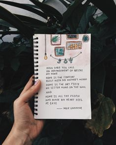The idea of home ✨ // poetry by noor unnahar // art journal Journal Vintage, My Journal, Journal Pages, Quotes Thoughts, Words Quotes, Pretty Words, Beautiful Words, Citation Photo Insta, Noor Unnahar