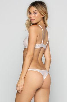 ACACIA Pipeline Mesh Bikini Bottom in Foam/Topless|ISHINE365 - 1