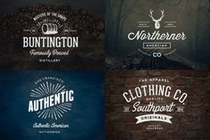 Vintage Logo Bundle and Extras by Nicky Laatz on Creative Market