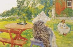 Carl Larsson. In The Back Yard 1911