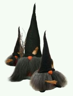 Halloween gnomes three wizards