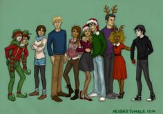 This makes me so happy :')<<<<<happy holidays from the demigods and awwww Caleo!