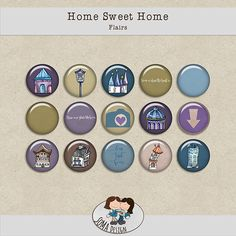 SoMa Design: Home Sweet Home - Flairs Digital Scrapbooking, Sweet Home, House Design, Kit, House Beautiful, Architecture Illustrations, Design Homes