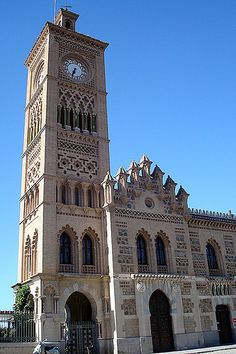 Train Station ~ Toledo, Spain Travel Around The World, Around The Worlds, Toledo Spain, Andorra, Architectural Elements, Prado, Train Station, Islamic, Crockpot