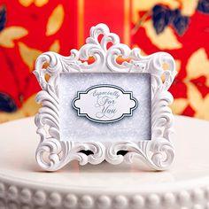 FAVORmart - Baroque Place Card Holder or Frame Favor, $2.50 (http://www.favormart.com/baroque-place-card-holder-or-frame-favor/)