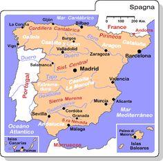 spagna mappa - Cerca con Google