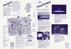 Formes Vives, programme du festival Obliques, A3, offset 1 ton, 2500 exemplaires, mars 2013