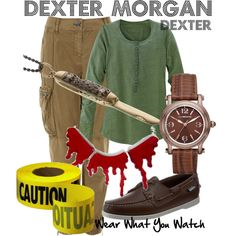 Dexter by wearwhatyouwatch on Polyvore featuring Burberry, Sebago, Liz Claiborne, Sydney Evan, television and wearwhatyouwatch